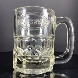 A&W Root Beer Mug ~ clear raised logo